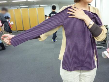袖と丈が長め