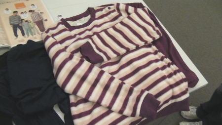 フリース×ホットコットのパジャマ